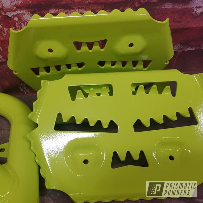 Powder Coating: Automotive,ATV,Chartreuse Sherbert PSS-7068,Quad Parts,ATV Parts