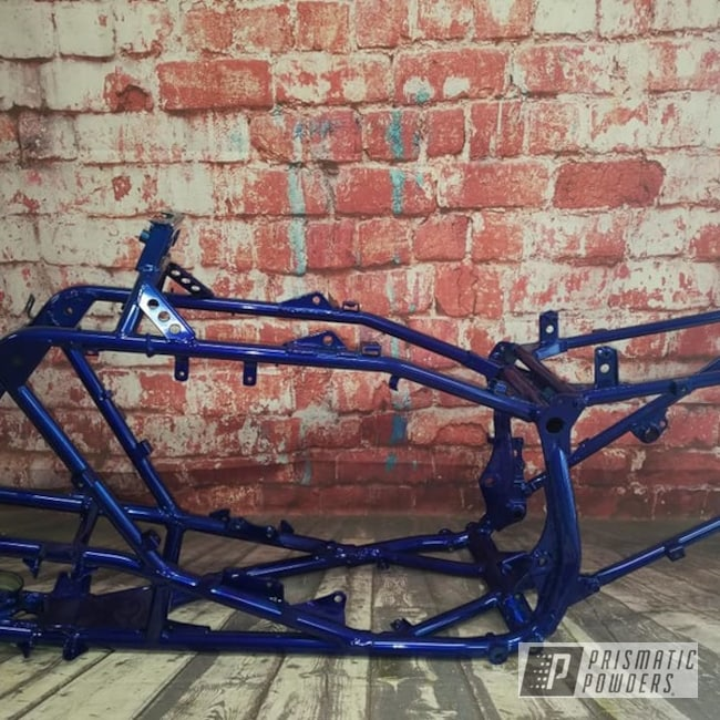 Powder Coating: ATV Frame,Automotive,SUPER CHROME USS-4482,ATV,LOLLYPOP BLUE UPS-2502,Lollypop