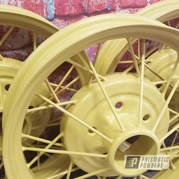 Powder Coated Model A Spoked Wheels In Ral-1002