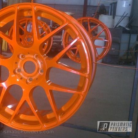 Powder Coating: Wheels,Custom,VW wheels,powder coating,powder coated,Prismatic Powders,Orange,Striker Orange PPS-4750