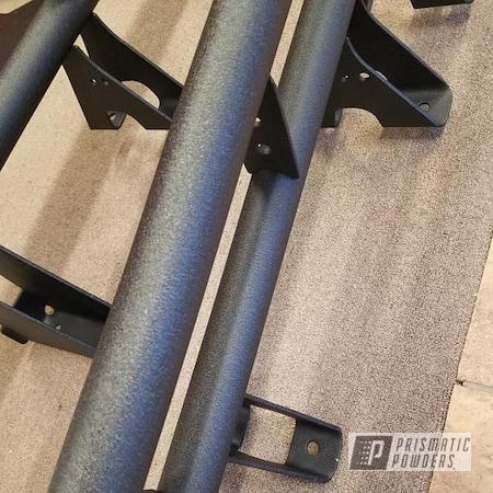 Powder Coating: Truck Parts,Splatter Black PWS-4344,Automotive,Running Boards,Side Steps,Wrinkle Finish