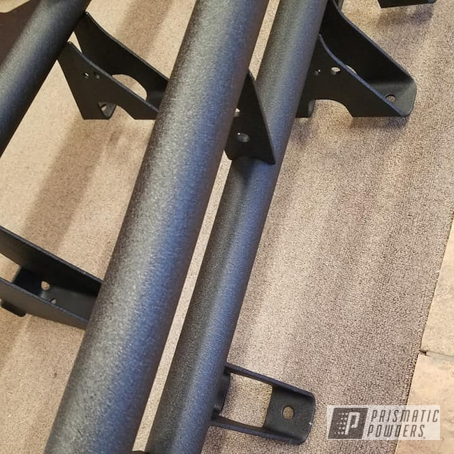 Powder Coating: Truck Parts,Splatter Black PWS-4344,Automotive,Running Boards,Side Steps,Wrinkle Finish