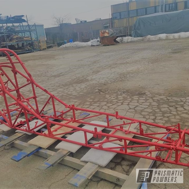 Powder Coating: Automotive,Race Car Frame,RAL 3002 Carmine Red,Race Car Chassis,Drag Racing