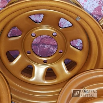 Powder Coated Copper 15 Inch Steel Wheels