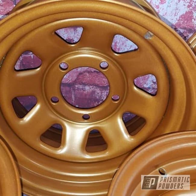 Powder Coated Copper 15 Inch Steel Wheels