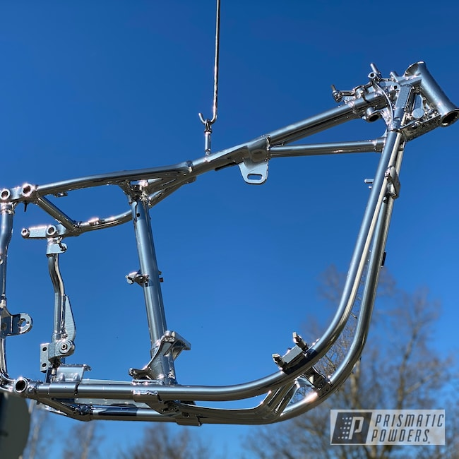 Powder Coating: Automotive,Harley Davidson,SUPER CHROME USS-4482,Powder Coated Frame,Custom Motorcycle,Motorcycles,Shovelhead