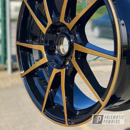 "Powder Coating: Wheels,Automotive,18"",SUPER CHROME USS-4482,Pearl Black PMB-5347,Trans Glitter Gold PPB-8167,Dotz,18"" Aluminum Wheels"