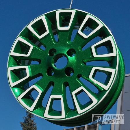 "Powder Coating: Wheels,Automotive,Clear Vision PPS-2974,2 Color Application,Illusion Gambler PMB-6916,Polar White PSS-5053,15"" Wheel,SEAT Mii"