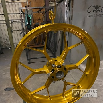 Powder Coated Gold Custom Rim