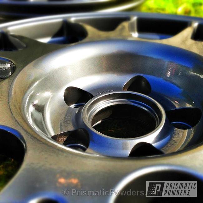 Powder Coating: Wheels,Custom,Clear Vision PPS-2974,chrome,Black,powder coating,powder coated,Prismatic Powders,ULTRA BLACK CHROME USS-5204