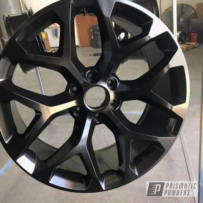 Powder Coating: Wheels,Automotive,Silk Satin Black HSS-1336