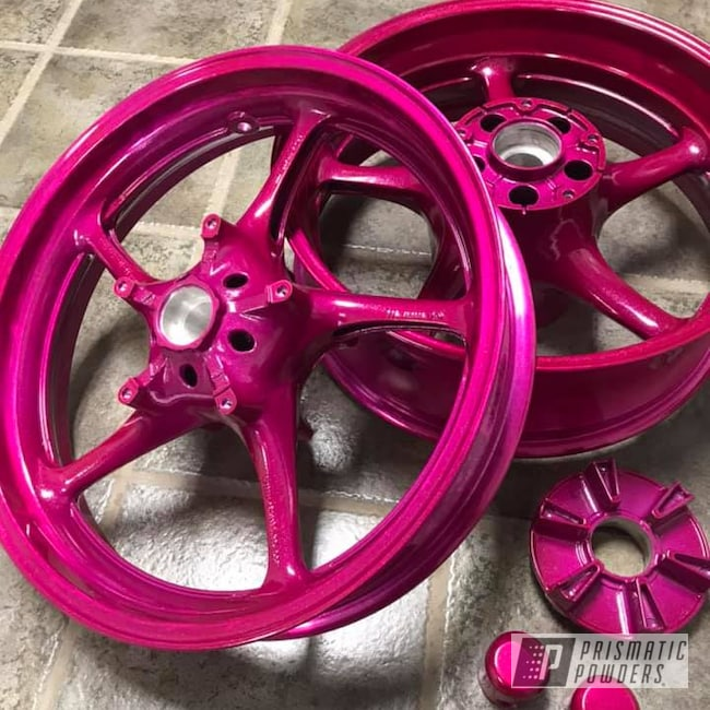 Powder Coating: Wheels,Automotive,RACING RASPBERRY UPB-6610,Motorcycles