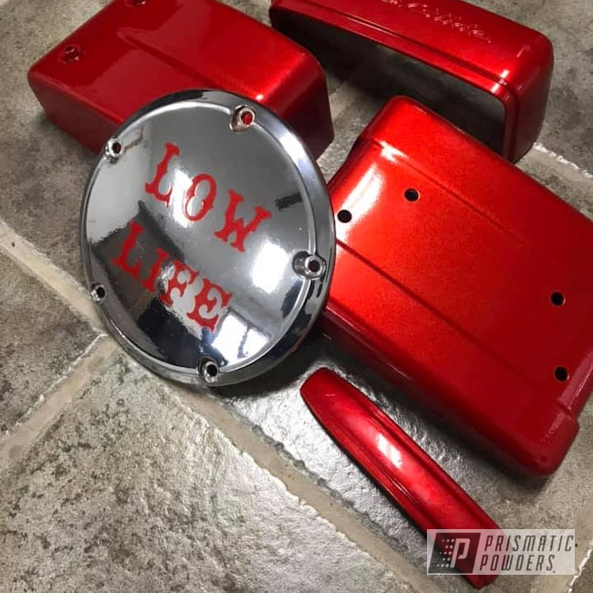 Powder Coating: Automotive,Clear Vision PPS-2974,SUPER CHROME USS-4482,Custom Parts,Illusion Red PMS-4515