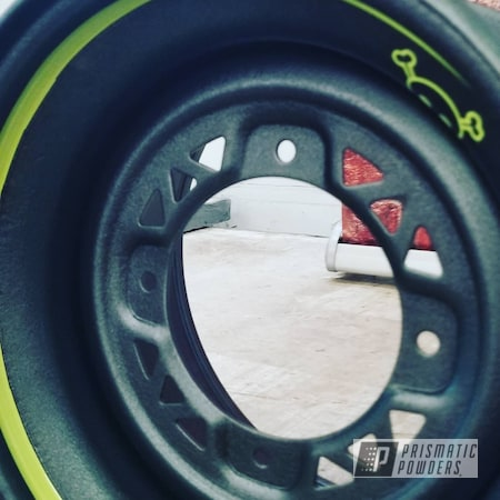 Powder Coating: Wheels,Automotive,ATV,Neon Yellow PSS-1104,Desert Grey PWB-2775,ATV Rims