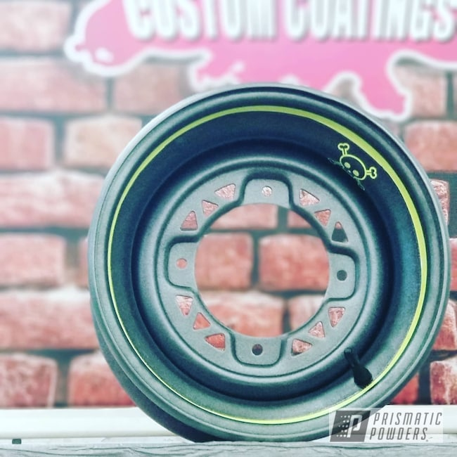 Powder Coating: Wheels,Automotive,ATV,Neon Yellow PSS-1104,Desert Grey PWB-2775,ATV Rims