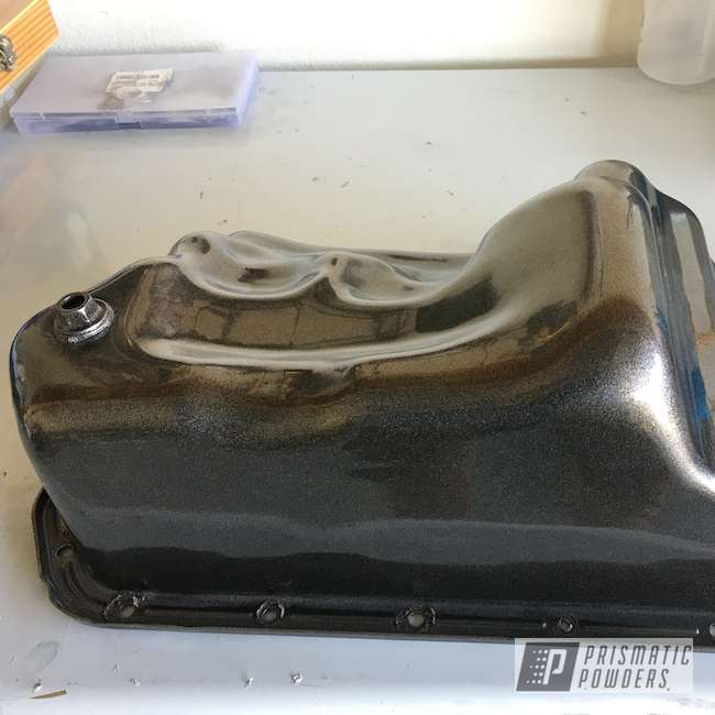 Powder Coating: Automotive,Camshaft,Oil Pan,Custom Auto Part,Cosmetic Black PMB-2848,Automotive Parts,Dark Iris Purple PMB-1424