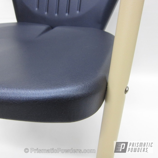 Powder Coating: Custom,Retro Patio Chair,powder coating,powder coated,Prismatic Powders,Wetstone Midnight PWB-2563,Furniture,dark blue