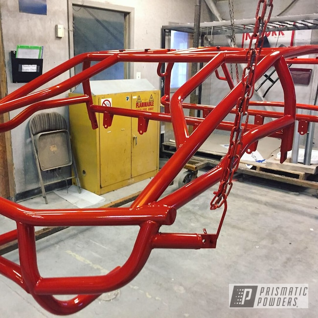 Powder Coating: Automotive,Polaris RZR,Custom Cage,Clear Vision PPS-2974,Powder Coated Frame,Polaris,RZR,Fire Orange PMB-6463