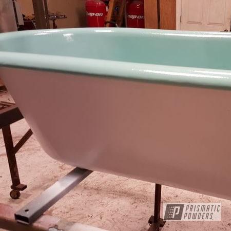 Powder Coating: Clawfoot Tub,Clear Vision PPS-2974,Sea Foam Green PSS-4063,Heavy Silver PMS-0517,seafoam,Classic,Clean White PSS-4950