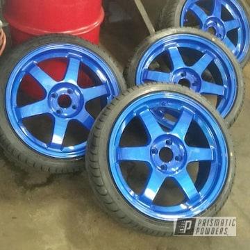 Powder Coated Blue 16 Inch Mazda Wheels