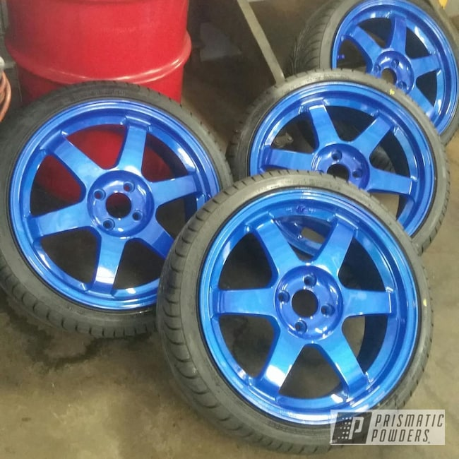 "Powder Coating: Illusion Blue-Berg PMB-6910,Blue wheels,Clear Vision PPS-2974,Miata,mx5,16"" Wheels,Mazda"
