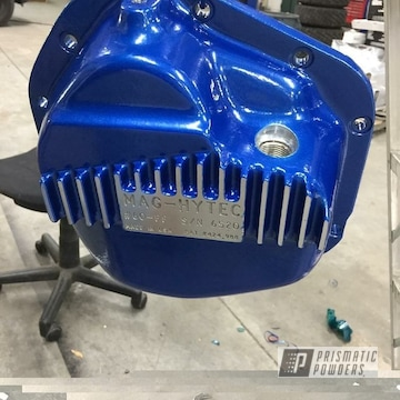 Powder Coated Blue Differential Cover