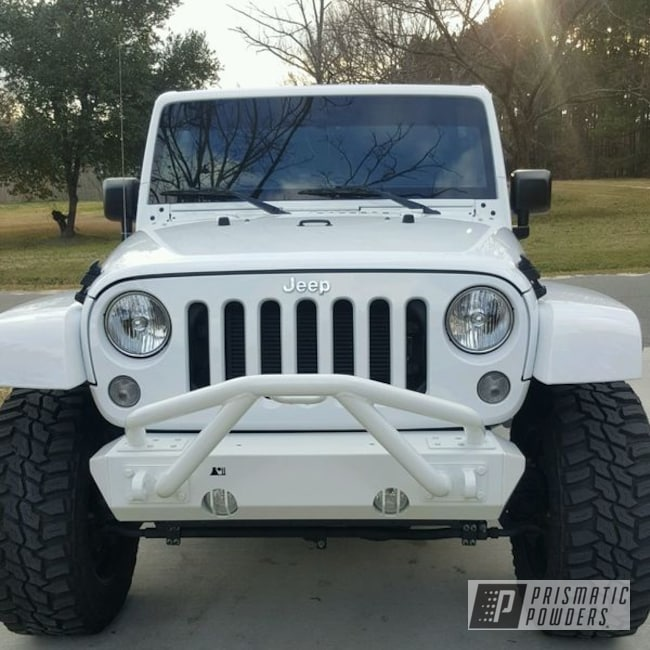 Powder Coating: Clear Vision PPS-2974,Clean White PSS-4950,Jeep Bumper
