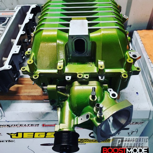 Powder Coated Green Lsa Supercharger