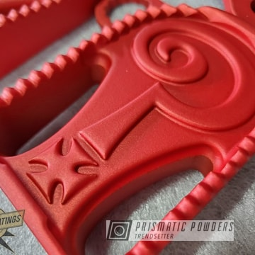 Powder Coated Matte Red Custom Motorcycle Parts
