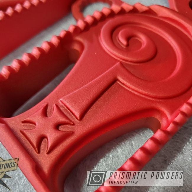 Powder Coating: staticcoatingsnj,Illusion Red PMS-4515,Custom Motorcycle,Casper Clear PPS-4005