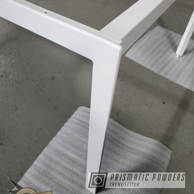 Powder Coating: staticcoatingsnj,Soft Satin White PSS-1353,Table Base