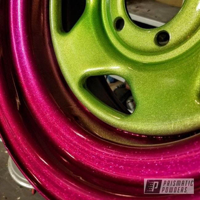 "Powder Coating: Wheels,15"" Steel Wheels,Clear Vision PPS-2974,RACING RASPBERRY UPB-6610,SUPER CHROME USS-4482,Cragar Wheels,GLOSS BLACK USS-2603,Illusion Sour Apple PMB-6913,Beetle,VW"