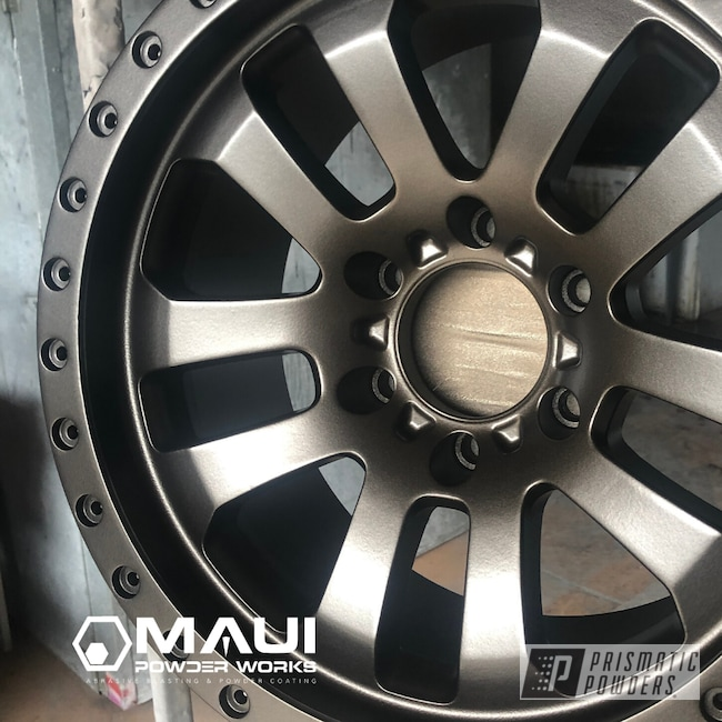 "Powder Coating: HALLISTER BRONZE UMB-6536,Pro Comp,19"" Aluminum Rims"