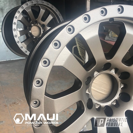 "Powder Coating: HALLISTER BRONZE UMB-6536,Pro Comp,19"" Aluminum Rims"