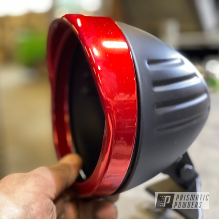 Powder Coating: Clear Vision PPS-2974,SUPER CHROME USS-4482,Motorcycle Parts,Honda Motorcycle,Ink Black PSS-0106,Casper Clear PPS-4005,RACING RED UPB-6379