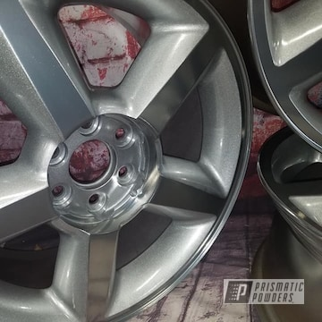 Powder Coated 20 Inch Chevy Wheels In Pps-2974, Pms-0517 And Uss-4482