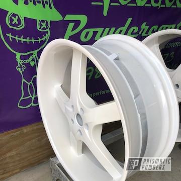 Powder Coated White 24 Inch Wheels