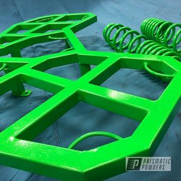 Powder Coated Green Custom Auto Brackets