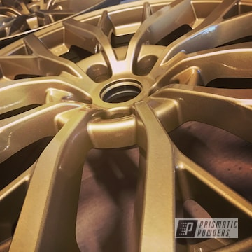 Powder Coated Gold 18 Inch Subaru Sti Wheels