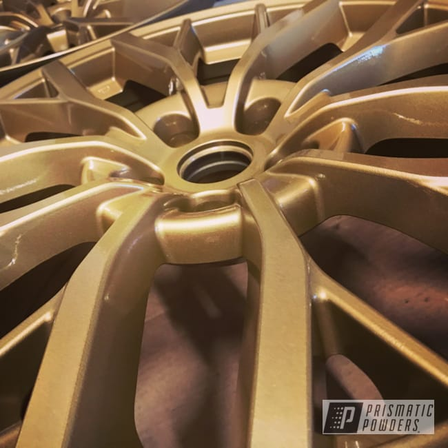 "Powder Coating: Clear Vision PPS-2974,STI,18"",Subaru,Satin Poly Gold PMB-6487,18"" Aluminum Wheels"