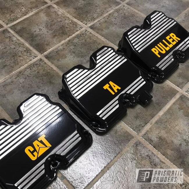Powder Coating: Caterpillar Yellow II PSS-2550,Ink Black PSS-0106