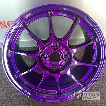 Powder Coated Purple 18 Inch Aluminum Wheels