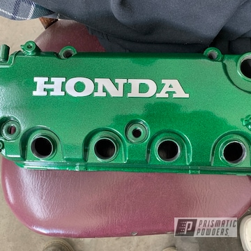 Powder Coated Green Honda Valve Cover