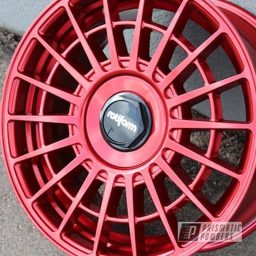 Powder Coated 17 Inch Rotiform Wheels In Uss-4482 And Ppb-6934