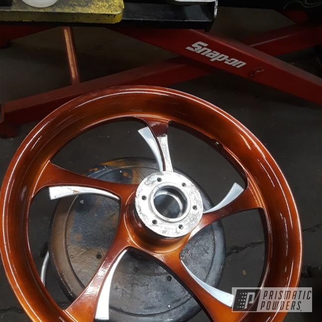 "Powder Coating: Wheels,Automotive,Transparent Copper PPS-5162,Motorcycles,18"" Aluminum Wheels,Aluminum Wheels"