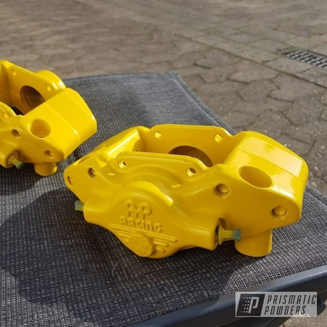 Powder Coated Yellow Brake Calipers
