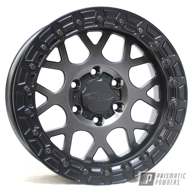 "Powder Coating: Wheels,Automotive,Forged Wheels,Sim-U-Lock,Forged,17"" Wheels,Simulated Beadlock,Crystal Grey PMB-5913,OMF Beadlock,Beadlock"