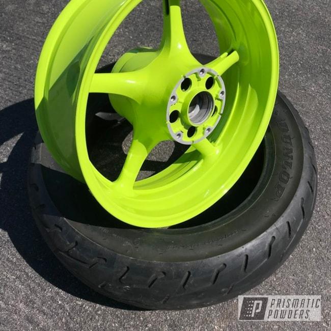 Powder Coating: Automotive,Chartreuse Sherbert PSS-7068,Yamaha,Motorcycle Wheels,Motorcycles