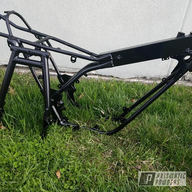 Powder Coating: Automotive,Motorcycle Frame,Ink Black PSS-0106,Motorcycles,Triumph