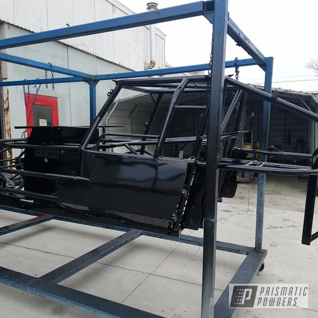 Powder Coating: Automotive,GLOSS BLACK USS-2603,Racing,Race Car Chassis